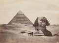 Photographs:Albumen, Francis Frith (British, 1822-1898). Pyramid & Sphinx,circa 1858. Albumen. 6 x 8 inches (15.2 x 20.3 cm). Titled in ink...