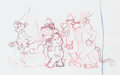 Animation Art:Production Drawing, The Banana Splits in Hocus Pocus Park Animation Drawing Group of 4 (Hanna-Barbera, 1972).... (Total: 4 Original Art)