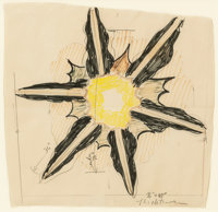 Roy Lichtenstein (1923-1997) Study for 'Wall Explosion I', 1965 Pencil, colored pencil, and felt-tip