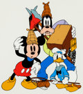 Animation Art:Seriograph, Mickey Donald and Goofy Lonesome Ghosts Limited Edition Sericel (Walt Disney, 1990)....