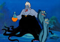 Animation Art:Production Cel, The Little Mermaid Ursula, Flotsam, and Jetsam ProductionCel Setup (Walt Disney, 1992).... (Total: 3 Original Art)