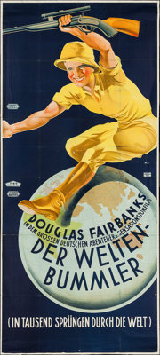 """Around the World in 80 Minutes (United Artists, 1931). Austrian Poster (48"""" X 109""""). Documentary"""