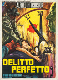 """Movie Posters:Hitchcock, Dial M for Murder (Warner Brothers, R-1960s). Italian 2 - Foglio (39.5"""" X 55""""). Hitchcock.. ..."""