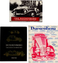 Memorabilia:Miscellaneous, Duesenberg Automobile Related Books Group of 3 (Various Publishers, 1954-82).... (Total: 3 Items)