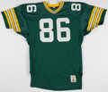 Football Collectibles:Uniforms, 1991-92 Ed West Game Worn Green Bay Packers Jersey....