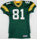 Football Collectibles:Uniforms, 1998 Tyrone Davis Game Worn Green Bay Packers Jersey....
