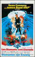 "Movie Posters:James Bond, Diamonds are Forever (United Artists, 1971). Belgian Poster (14.5""X 23.75""). James Bond.. ..."