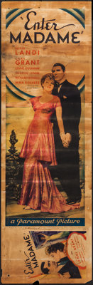 """Enter Madame (Paramount, 1935). Insert (14.5"""" X 36.5"""") and Attached Midget Window Card (8.5"""" X 14.5""""..."""