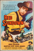 "Movie Posters:Western, Red Sundown & Others Lot (Universal International, 1956). Posters (4) (40"" X 60""). Western.. ... (Total: 4 Items)"