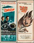 """Movie Posters:Crime, Compulsion & Others Lot (20th Century Fox, 1959). Inserts (4)(14"""" X 36""""). Crime.. ... (Total: 4 Items)"""