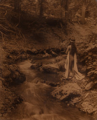 Edward Sheriff Curtis (American, 1868-1952) Maid of Dreams, circa 1909 Orotone 13-3/4 x 10-1/2 in