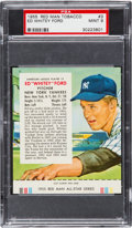 Baseball Cards:Singles (1950-1959), 1955 Red Man Whitey Ford #3 PSA Mint 9 - Highest Graded Example!...