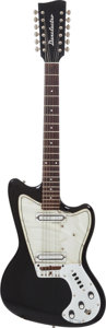 Musical Instruments:Electric Guitars, Circa 1969 Danelectro Dane 12-String Black Solid Body ElectricGuitar....