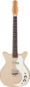 Musical Instruments:Electric Guitars, 1960 Danelectro Standard Blonde Solid Body Electric Guitar....