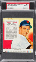 Baseball Cards:Singles (1950-1959), 1955 Red Man Mickey Vernon #12 PSA Mint 9 - Highest Graded Example!...