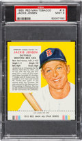 Baseball Cards:Singles (1950-1959), 1955 Red Man Jackie Jensen #19 PSA Mint 9 - Highest Graded Example! ...