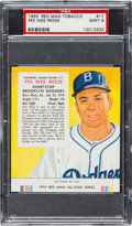 Baseball Cards:Singles (1950-1959), 1955 Red Man Pee Wee Reese #17 PSA Mint 9 - Pop Two, NoneHigher!...