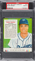 Baseball Cards:Singles (1950-1959), 1955 Red Man Duke Snider #19 PSA Mint 9 - Highest Graded Example!...