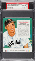 Baseball Cards:Singles (1950-1959), 1955 Red Man Chico Carrasquel #23 PSA NM-MT+ 8.5 - Highest...