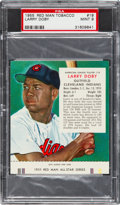 Baseball Cards:Singles (1950-1959), 1955 Red Man Larry Doby #18 PSA Mint 9 - Highest Graded Example!...