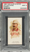 Baseball Cards:Singles (Pre-1930), 1888 N29 Allen & Ginter William Ewing PSA Mint 9 - Pop Two,None Higher. ...