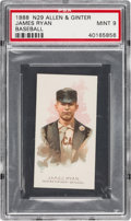 Baseball Cards:Singles (Pre-1930), 1888 N29 Allen & Ginter James Ryan PSA Mint 9 - The UltimatePSA Example! ...