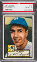 Baseball Cards:Singles (1950-1959), 1952 Topps Phil Rizzuto, Red Back #11 PSA NM-MT 8....