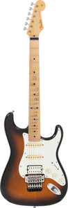 Musical Instruments:Electric Guitars, 1990 Fender Stratocaster Sunburst Solid Body Electric Guitar,Serial # 1034307....
