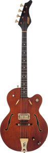 Musical Instruments:Bass Guitars, 1968 Gretsch Tennessean Burgundy Electric Bass Guitar, Serial # 86166....