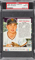 Baseball Cards:Singles (1950-1959), 1955 Red Man Tobacco Hoyt Wilhelm #12 PSA Mint 9 - Pop Two, NoneHigher!...