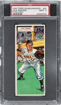 Baseball Cards:Singles (1950-1959), 1955 Topps Doubleheaders Shepard/Hack #23/24 PSA MINT 9 - Pop One,None Higher. ...