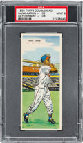 Baseball Cards:Singles (1950-1959), 1955 Topps Doubleheaders Aaron/Herbert #105/106 PSA MINT 9 - PopThree, None Higher. ...