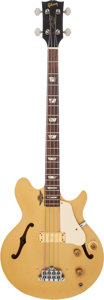 Musical Instruments:Bass Guitars, 1973 Gibson Les Paul Signature Gold Electric Bass Guitar, Serial #114378....