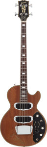 Musical Instruments:Bass Guitars, 1969 Gibson Les Paul Bass Walnut Electric Bass Guitar Signed by Les Paul, Serial # 050819....