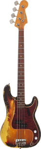 Musical Instruments:Bass Guitars, 1966 Fender Precision Bass Sunburst Electric Bass Guitar, Serial #185328....