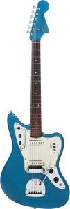 Musical Instruments:Electric Guitars, 1963 Fender Jaguar Lake Placid Blue Solid Body Electric Guitar,Serial # L23244....