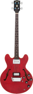 Musical Instruments:Bass Guitars, 1968 Gibson EB-2D Cherry Electric Bass Guitar, Serial # 521772....