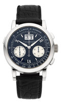 "Timepieces:Wristwatch, A. Lange & Söhne Ref. 403.035 Exceptional Platinum ""Datograph,Flyback"" Chronograph. ..."