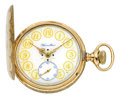 Timepieces:Pocket (post 1900), Hamilton Fine & Extremely Rare Grade 951 Gold Pocket Watch WithFancy Dial, circa 1909. ...