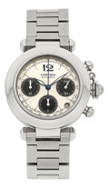 "Timepieces:Wristwatch, Cartier Ref. 2412 Pasha ""C"" Automatic Chronograph. ..."