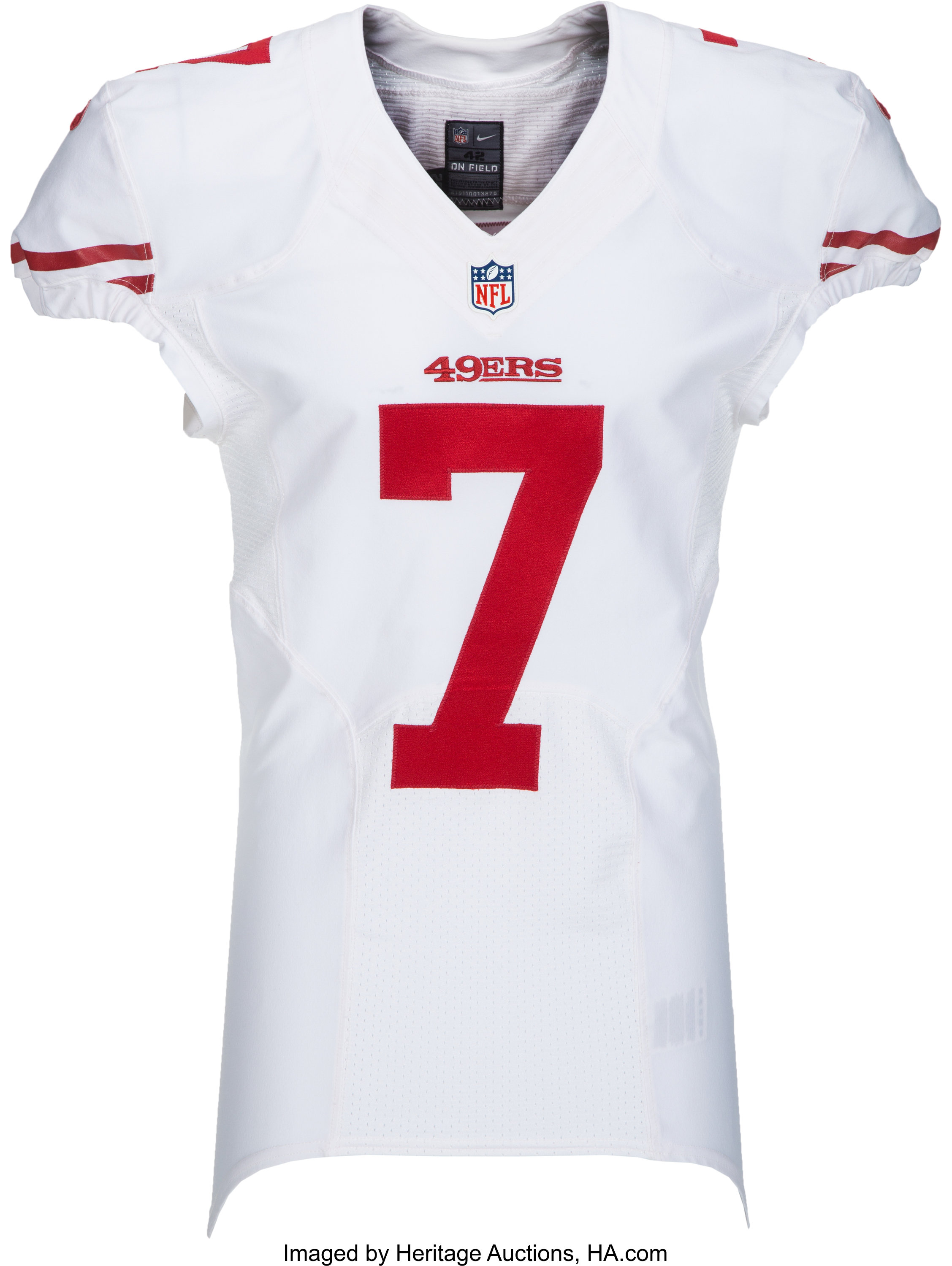cheap for discount 2be63 b49dc 2012 Colin Kaepernick Game Worn San Francisco 49ers Jersey ...