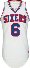 Basketball Collectibles:Uniforms, 1980's Julius Dr. J Erving Game Worn Philadelphia 76ers Jersey,MEARS A7. ...
