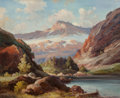 Paintings, Robert William Wood (American, 1889-1979). Bear Lake, Colorado. Oil on canvas. 25 x 30 inches (63.5 x 76.2 cm). Signed l...