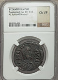 Ancients:Byzantine, Ancients: Anastasius I (AD 491-518). AE follis (no wt. given)....