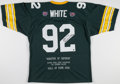 "Football Collectibles:Uniforms, Reggie White ""Minister of Defense"" Signed Green Bay Packers Jersey...."