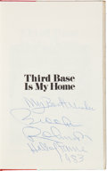 """Baseball Collectibles:Publications, 1973 Brooks Robinson """"Third Base Is My Home"""" Signed Books Lot of 4from The Brooks Robinson Collection. ..."""