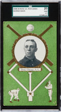 Baseball Cards:Singles (Pre-1930), 1908/09 Rose Company George Davis SGC 20 Fair 1.5 - - AnUncatalogued HoFer! ...