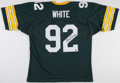 """Football Collectibles:Uniforms, Reggie White """"Minister of Defense"""" Signed Green Bay Packers Jersey...."""