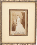 Photography:Studio Portraits, Lillie Langtry: A Signed Cabinet Photo of the Celebrated 19th Century Actress....