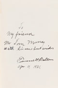 Books:Signed Editions, Emmett Dalton: A Rare Inscribed and Signed Presentation Copy of theFormer Outlaw's Book....